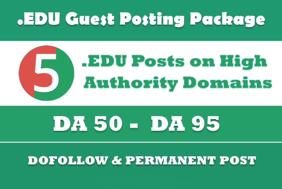 EDU Backlinks - 5 P0sts on High Authority EDU sites DA50+