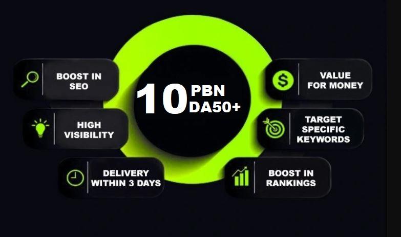 Build 10 PBNs DA50+ Homepage Dofollow Backlinks