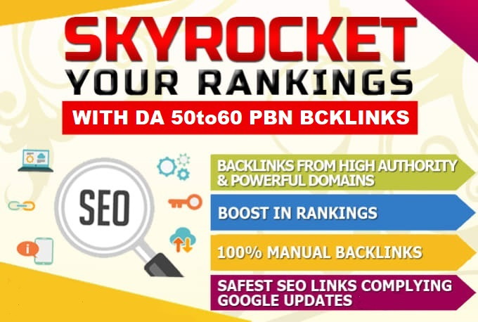 Build 5 PBNs DA50to60 Homepage Dofollow Backlinks