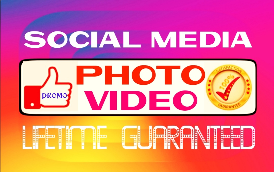 Add social pictures or videos promo instantly