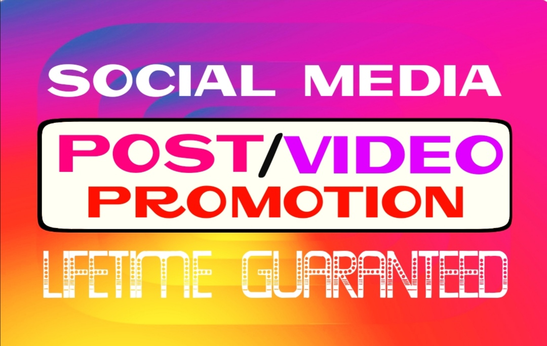 Do your posts or videos promotion with HQ,  real & active visitors instantly