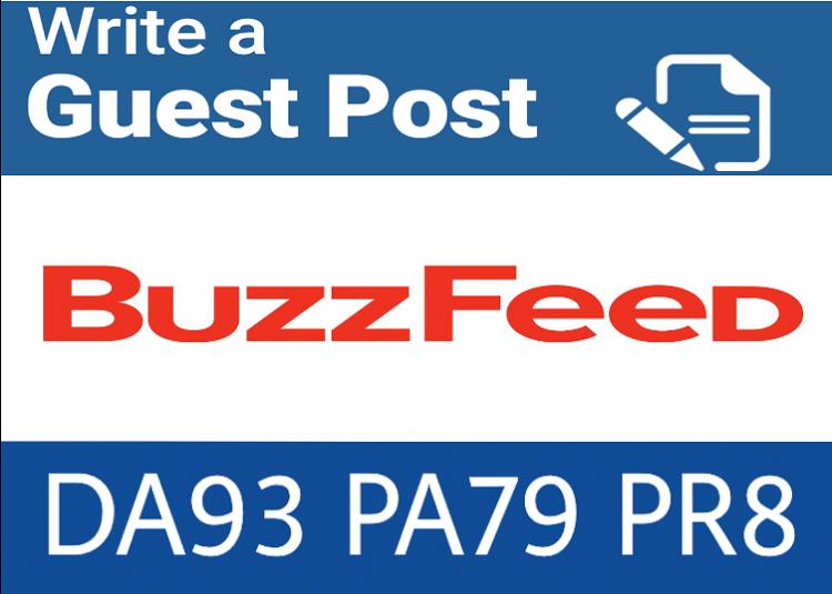 premium Guest Blog on Buzzfeed. Com DA93 PA79,  PR8 DOF Backlink