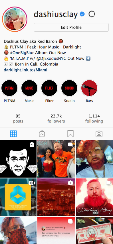 Verified IG Shoutout to 23.7k music and fashion fans