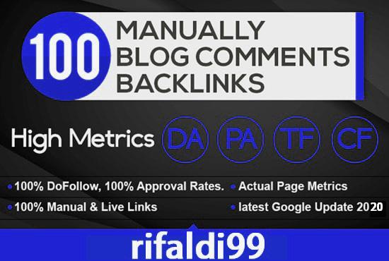 I will Create 100 Unique Dofollow Blog Comments HIGH DA PA