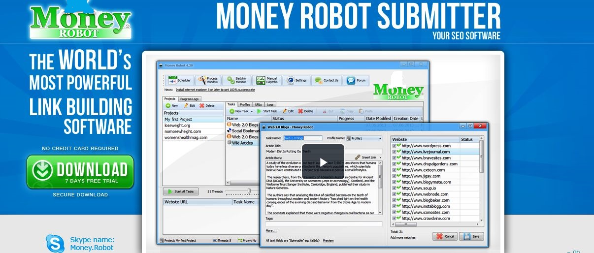 Rank your Website With Money Robot!
