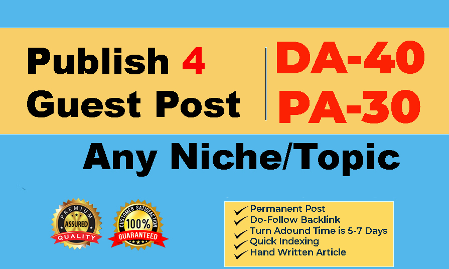 Guest Post On High DA & PA Websites To Rank Fast