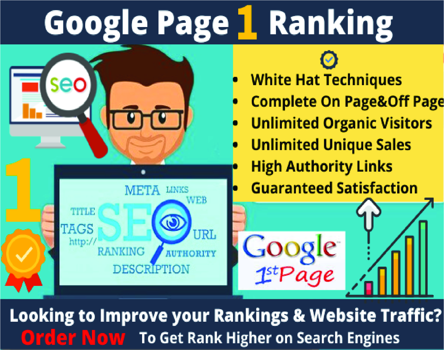 I will rank website Google first page Or Get Money Back