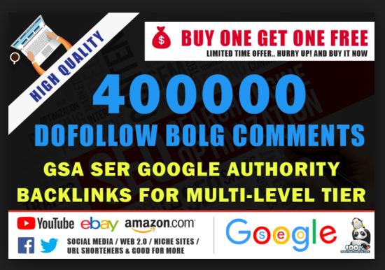 Provide 400,000 GSA ser Backlink for your sites