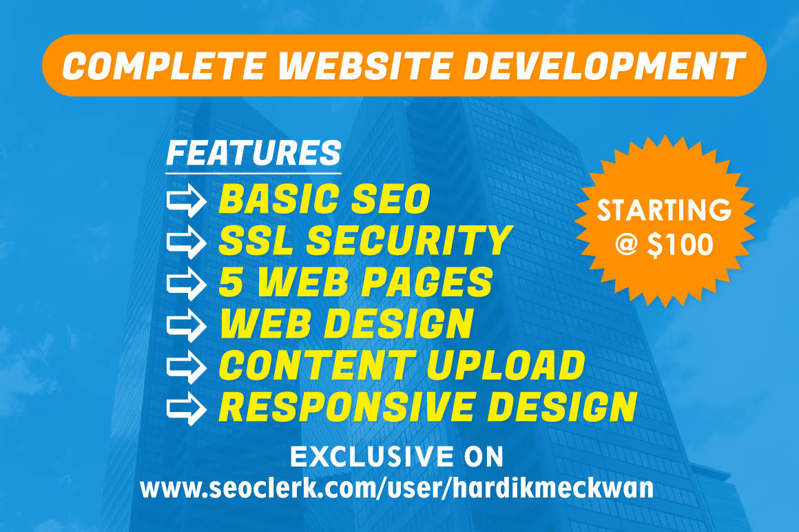 Design and develop professional business website