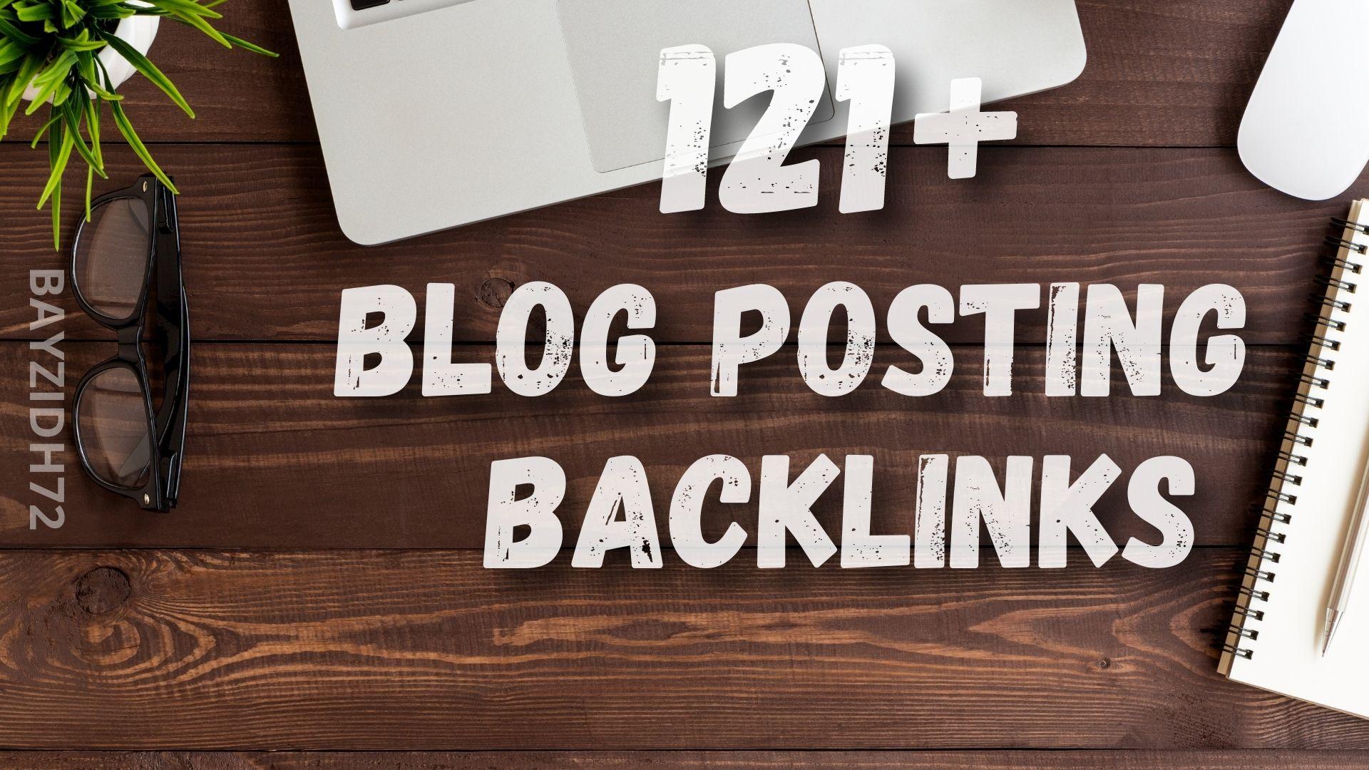 121+ Blog Posting SEO contextual Backlinks
