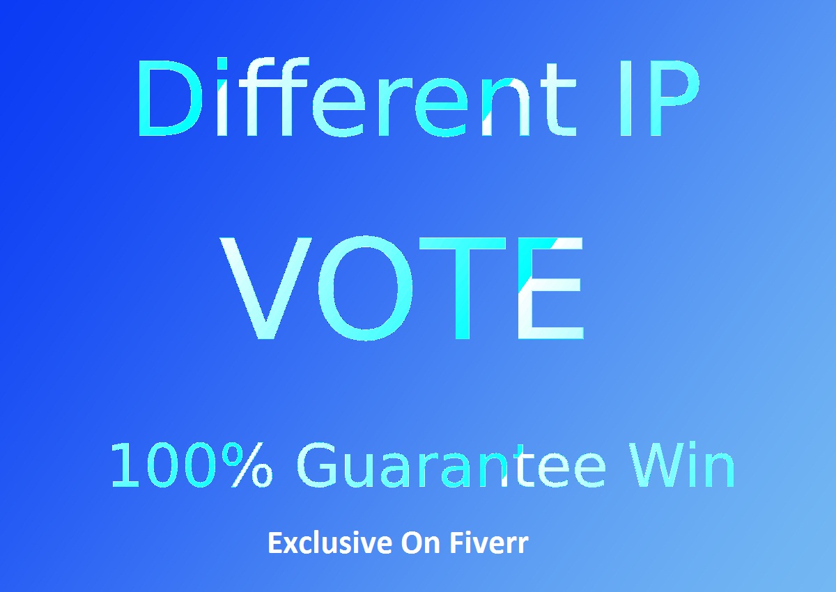 Professional 250 Single Click ip votes on your online poll voting contest poll
