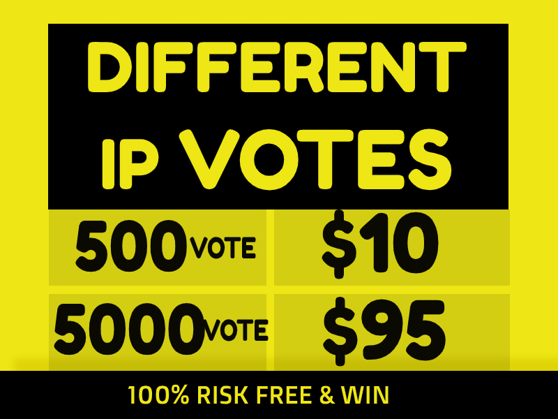 Amazing 500 Real Different IP's Votes IN Your Online Contest