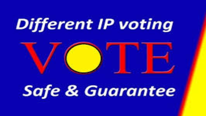 Professional 100 Different IP votes your online contest