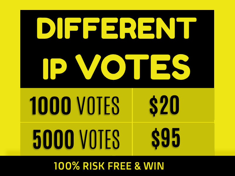 Amazing 1000 USA Different IP's Votes For Any Online Contest