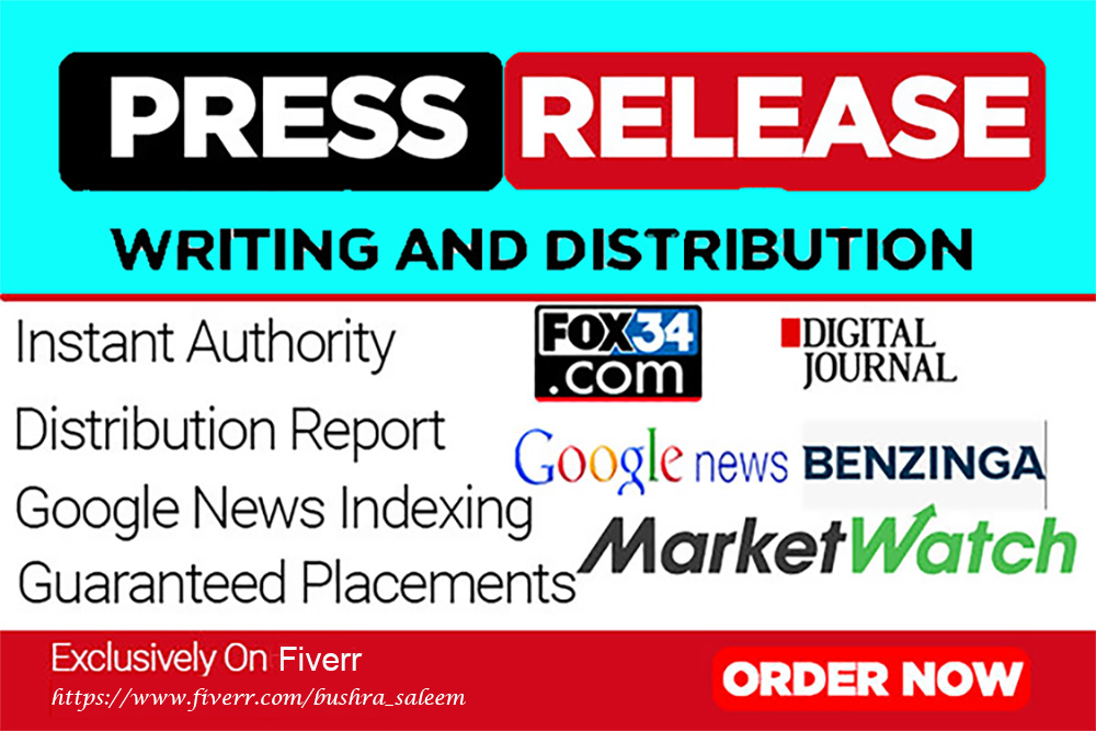 I will write a Press Release and Distribute it to 340+ Major News site and Media outlets