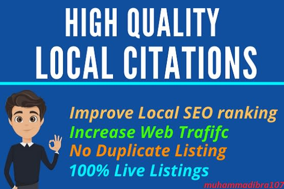 I will do local citations and directory submission for local seo