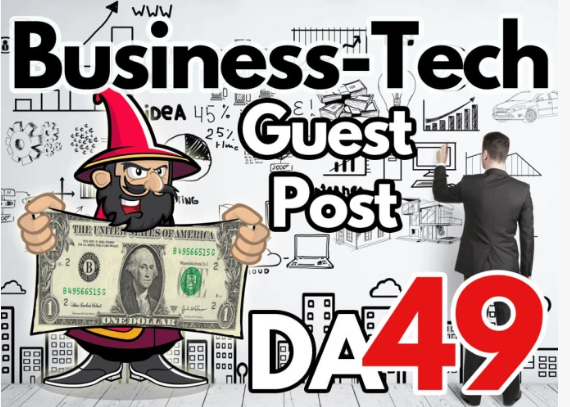 Premium guest post on DA 49 business tech blog