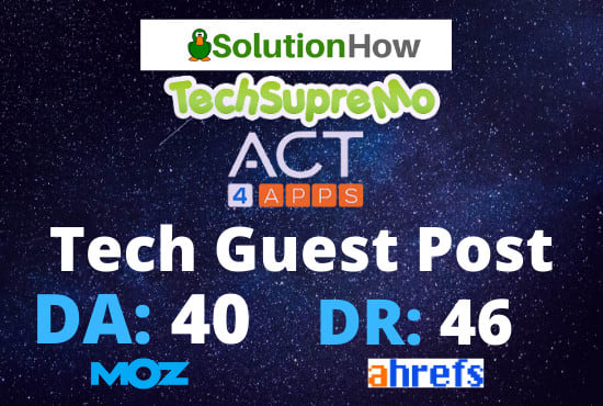 I will publish tech guest post on da 40 website