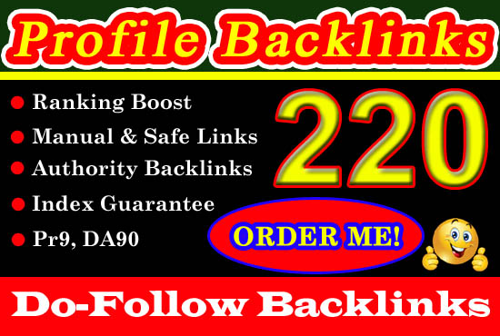 SEO White-Hat Pr9 Dofollow Profile Backlinks Google Top Ranking Guaranteed