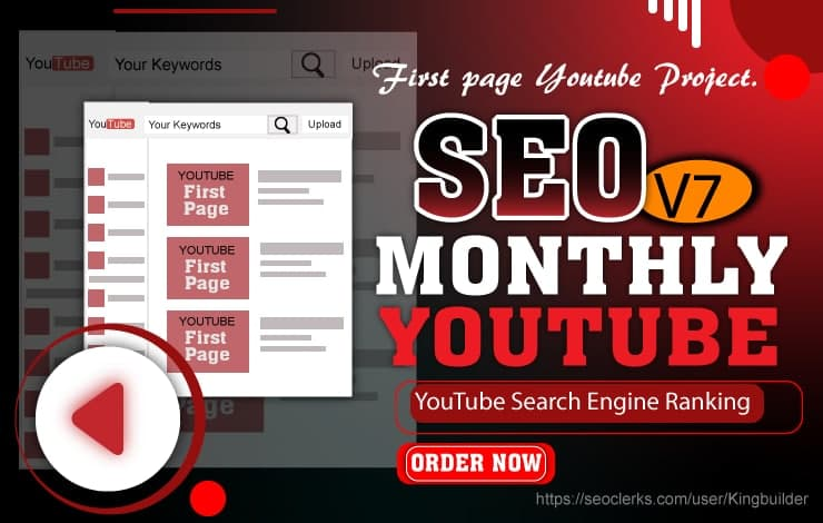 SEO V7 - Monthly YouTube Search Engine Ranking