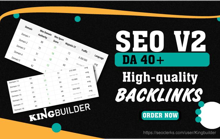SEO V2 - Build Manually High Da SEO Backlinks