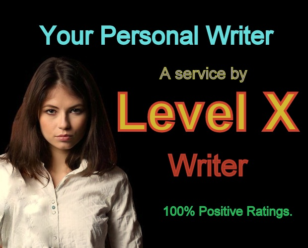 """Your Personal Writer"" a service by Level X"