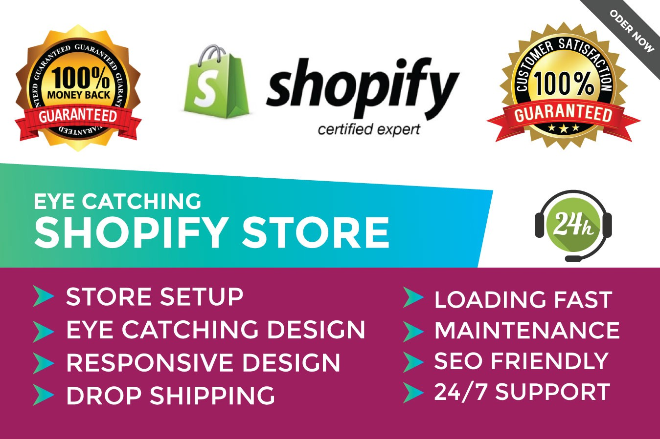 I will build a high converting shopify website or shopify dropshopping store with winning products