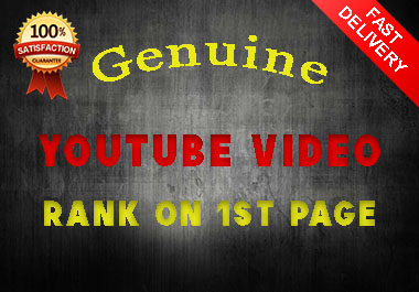 Guaranteed a genuine YouTube Video SEO Rank on 1st page