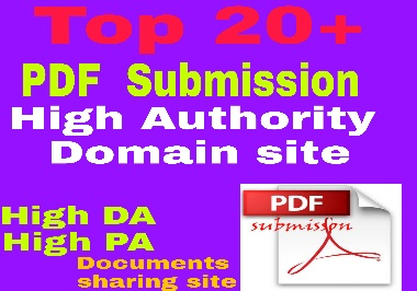 I will do 20 pdf submission on top documents sharing