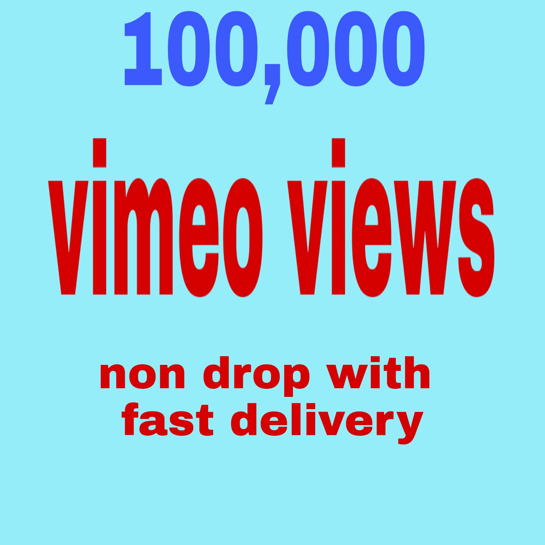 100,000 vimeo video hits non drop with fast delivery
