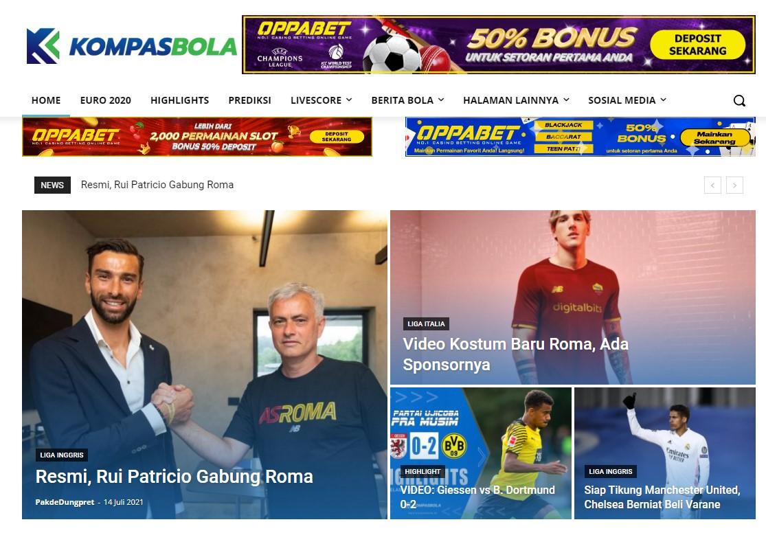 kompasbola. id Soccer Website Banner