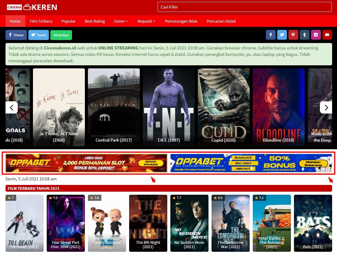 Video Banner 728x90 On Header Cinemakeren. id