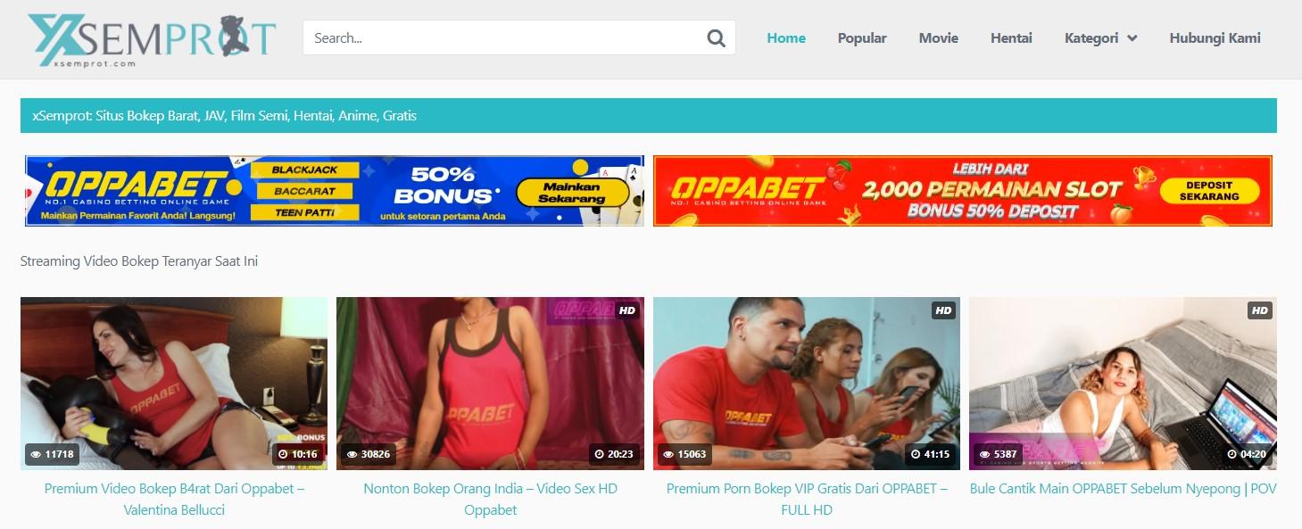 xSemprot.com : Porn Adult Indonesia Banner Ads Header