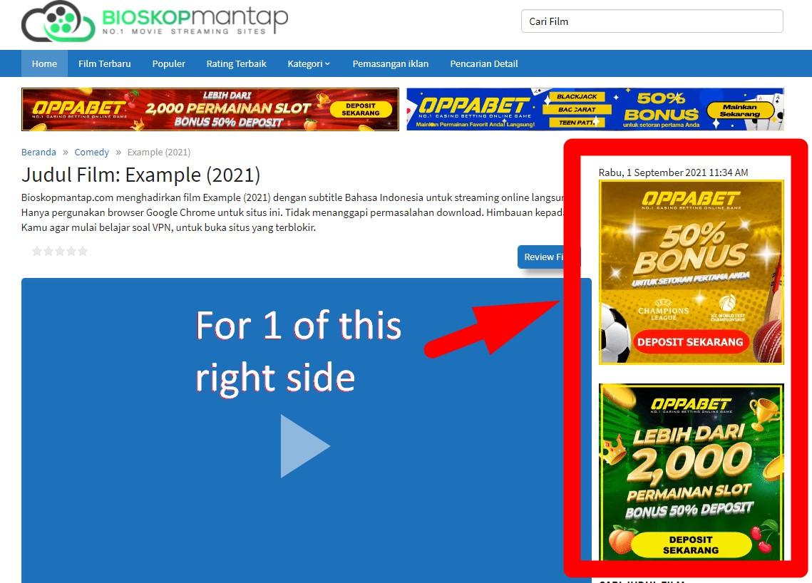 On PC Right Side Mobile is Below Bioskopmantap Indo