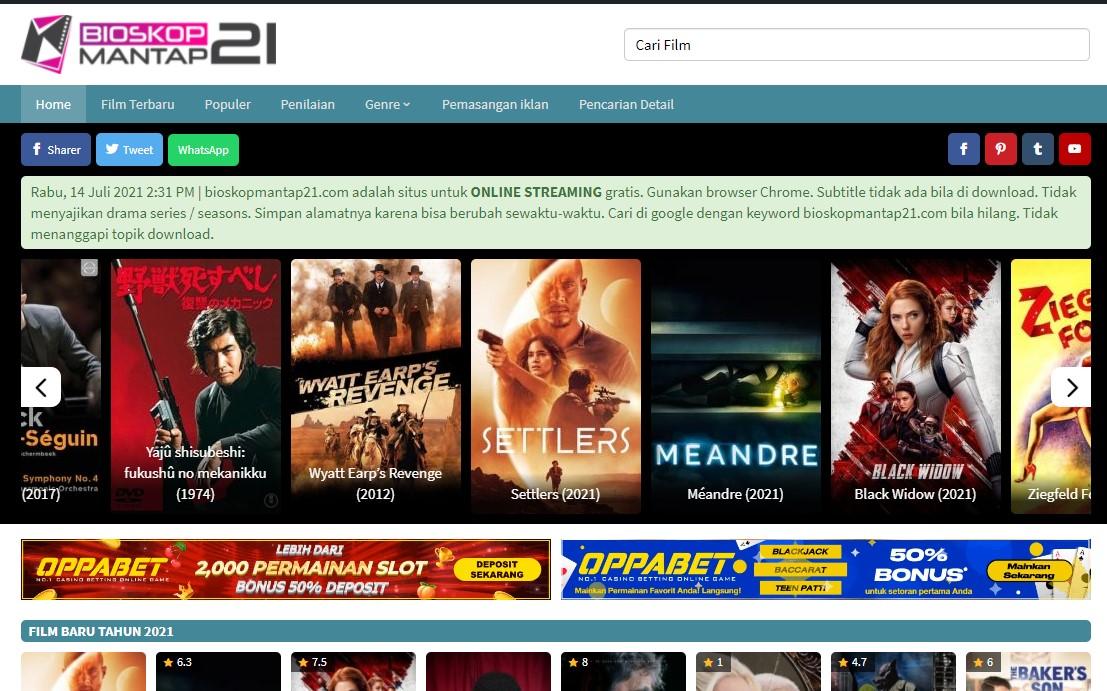 bioskopmantap21. com and friends sell Banner Ads Video
