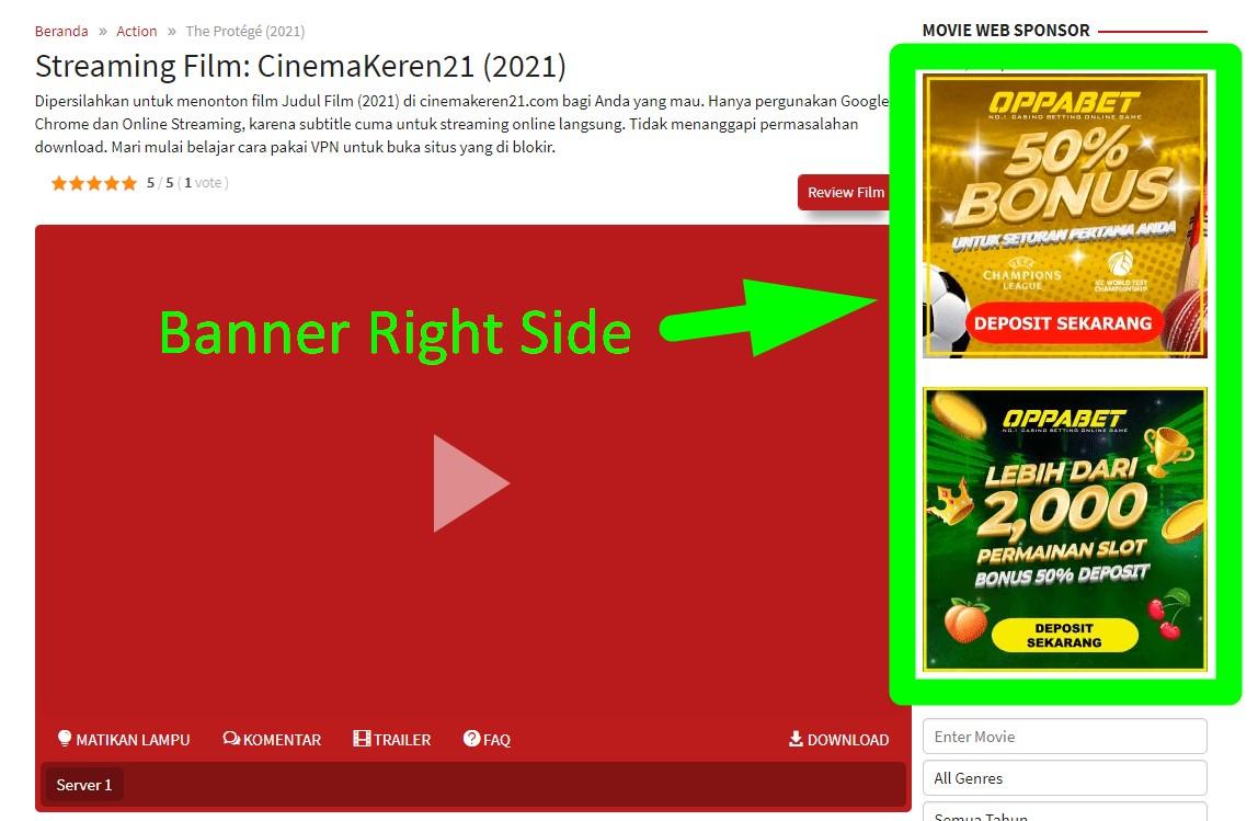 Square Banner Right Side On CinemaKeren21 300x300