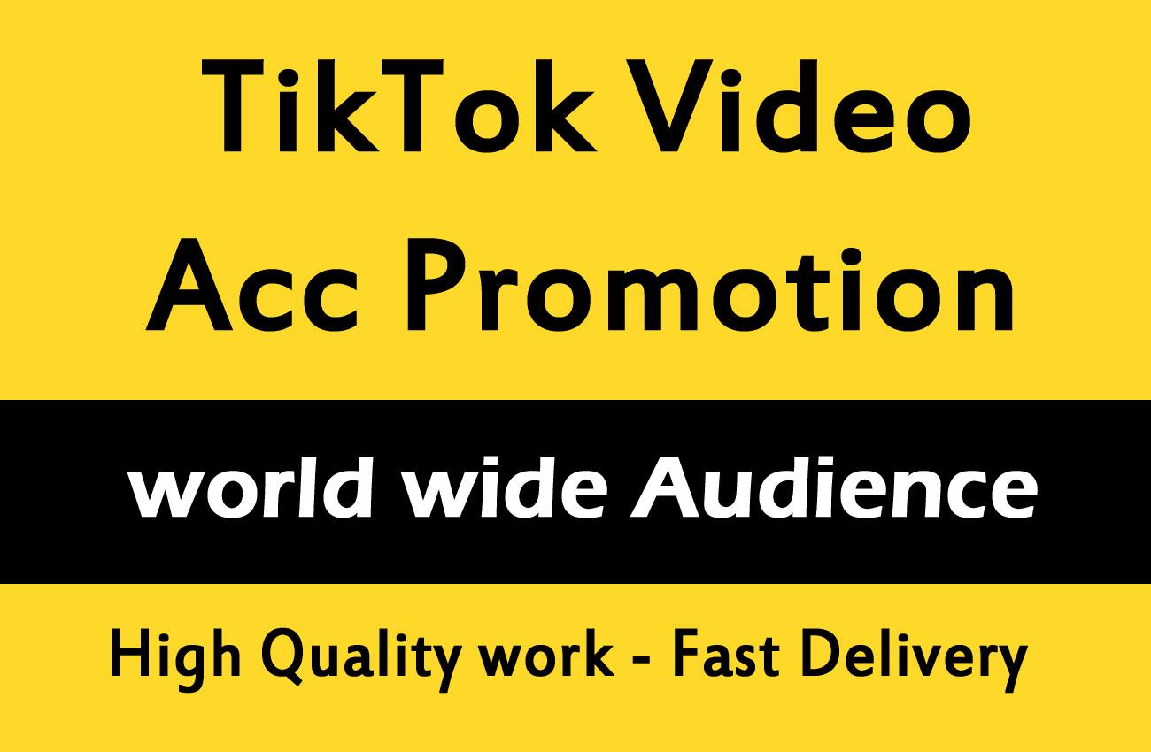 TikTok Video And Account Promotion Marketing via social media views