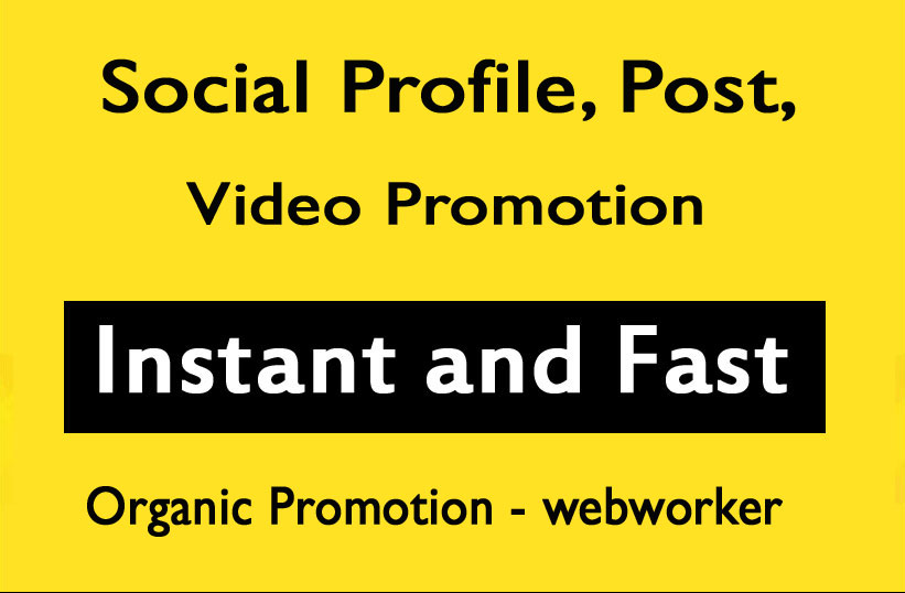 Social Profile and Pic Post Video Promotion within 6 Hours
