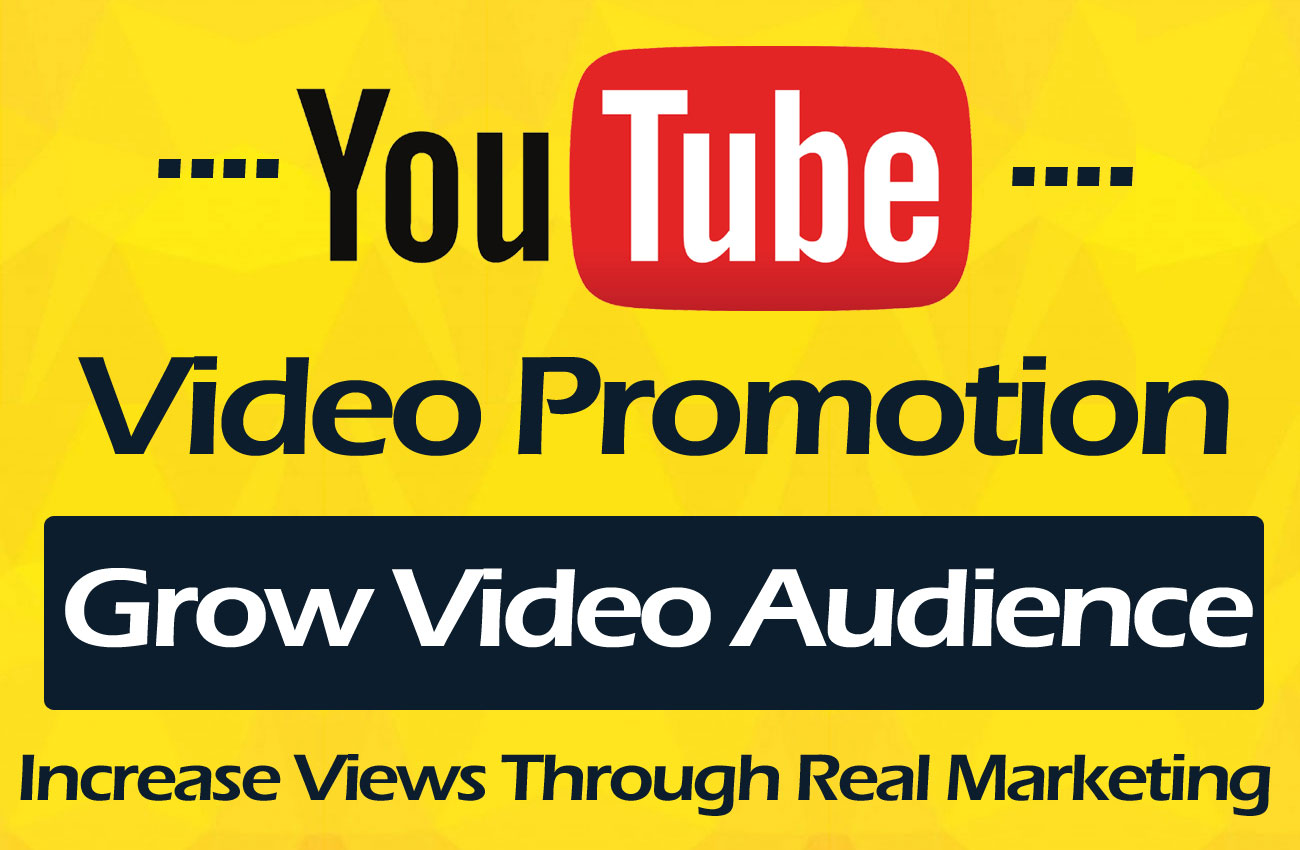 YouTube Video Marketing Promotion with real promotion