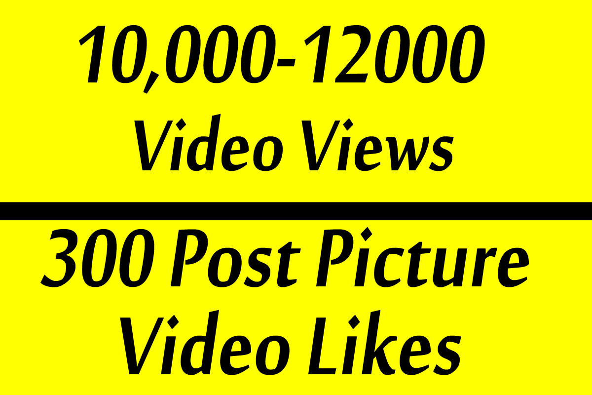 Fast 10000 Video Views Promotion Or 300 Likes