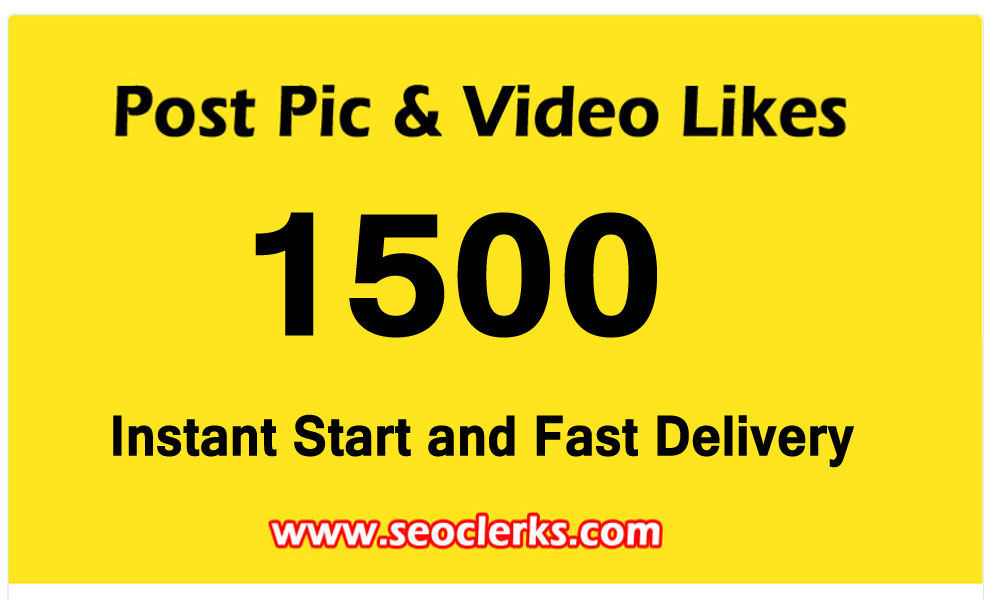 1500 Pictures Post video Promotion and Marketing with instant Delivery