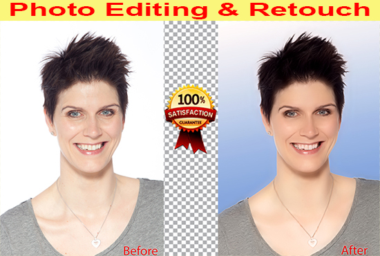 I will can do any photo editing and photo re-touch