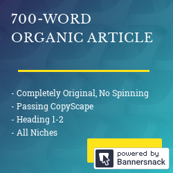 700+ Words SEO Optimized Organic Article