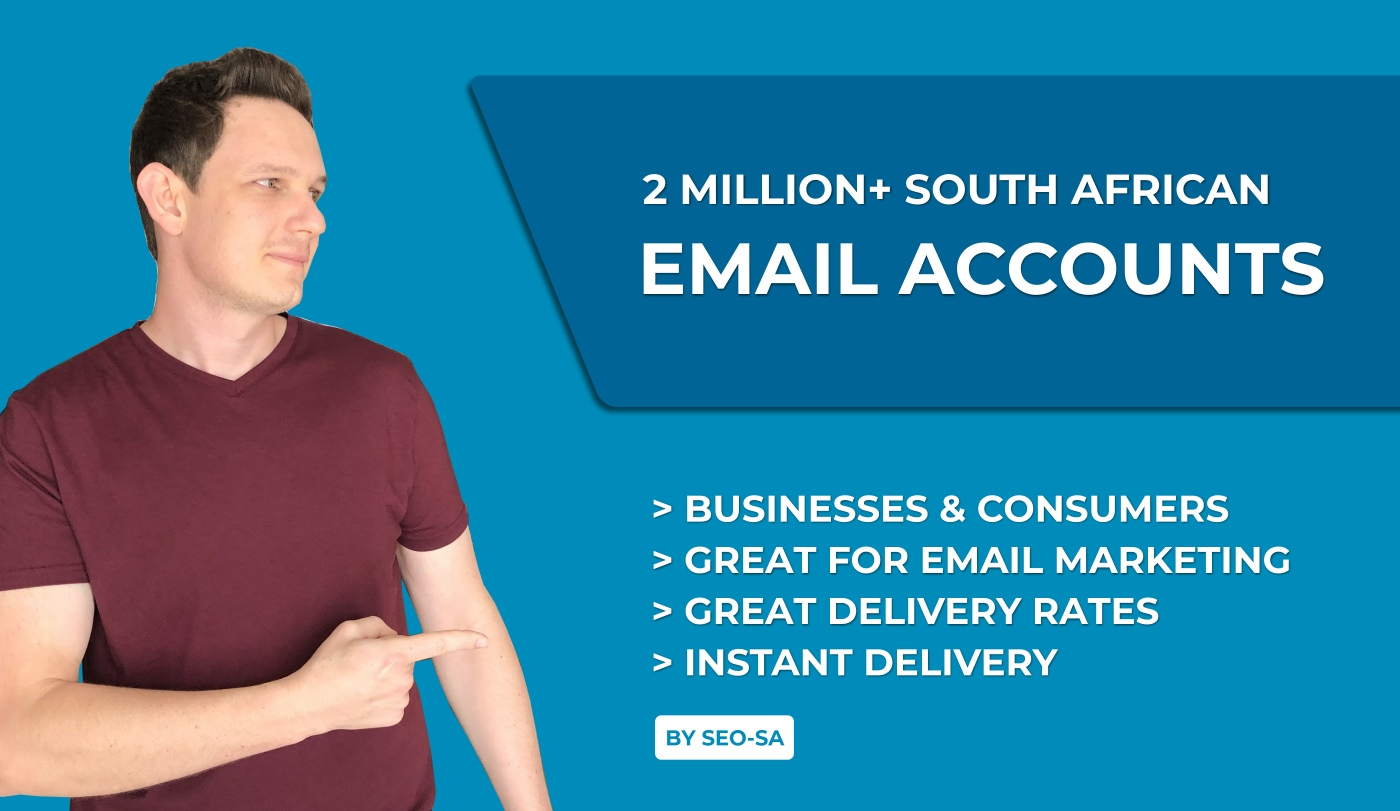 2 Million+ South African Email Addresses Lists