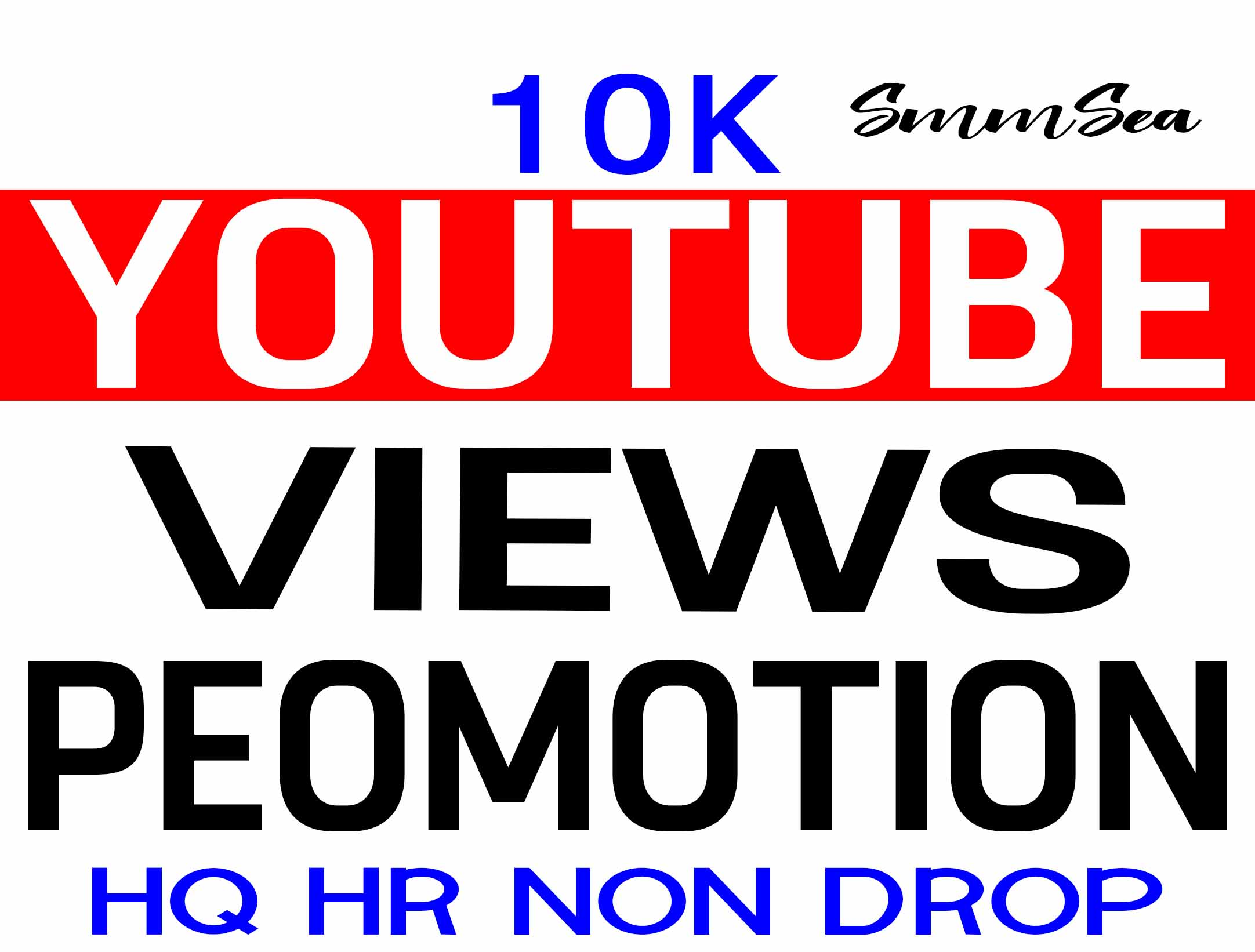 YOUTUBE VIDEO PROMOTION HQ AND NON DROP WITHIN 24 HOURS