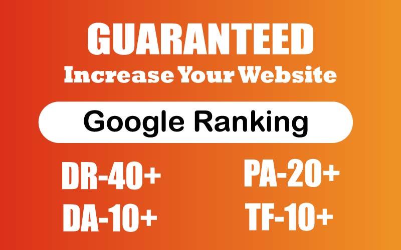 Increase Your Website Ahfrefs DR 40+ PA 20+ TF 10+ & DA 10+ Guaranteed