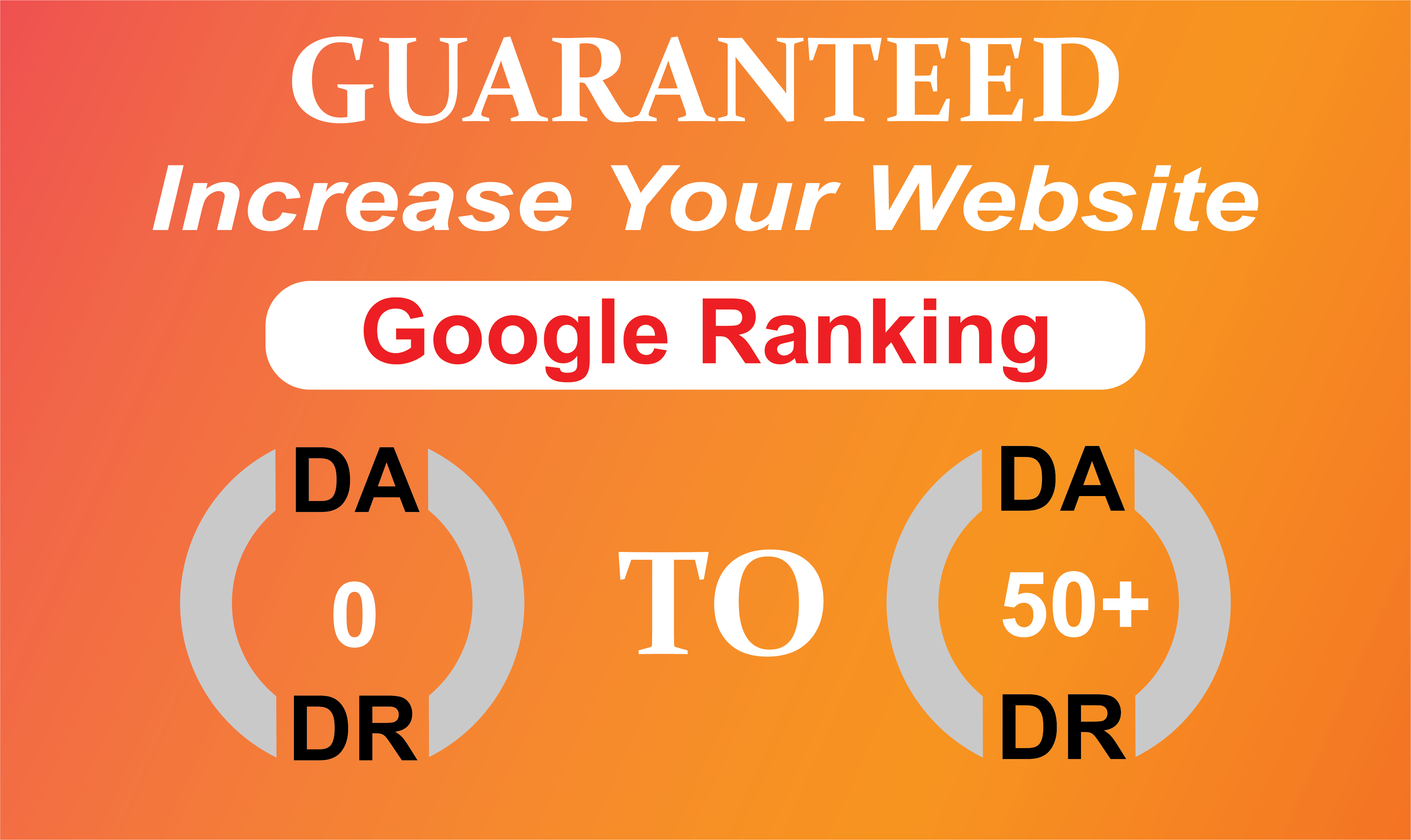 Increase Your Website Ahfrefs Domain Authority DA50+ and Domain Ratings DR50+ Guaranteed