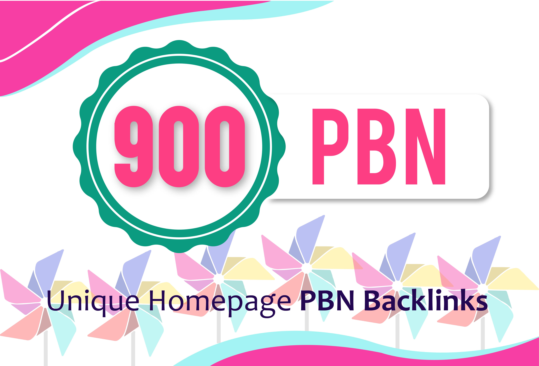 Permanent 900 Unique Homepage Hihg DA PA TF CF Quality Do-Follow PBN Backlinks