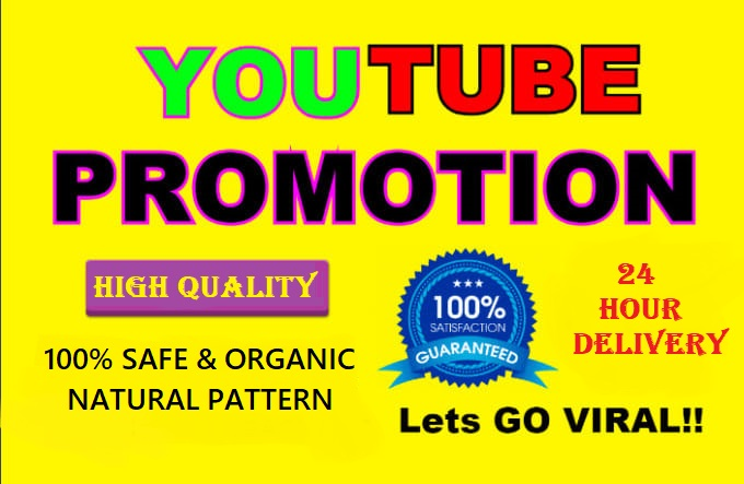 NON DROP & HIGH QUALITY YOUTUBE PROMOTION