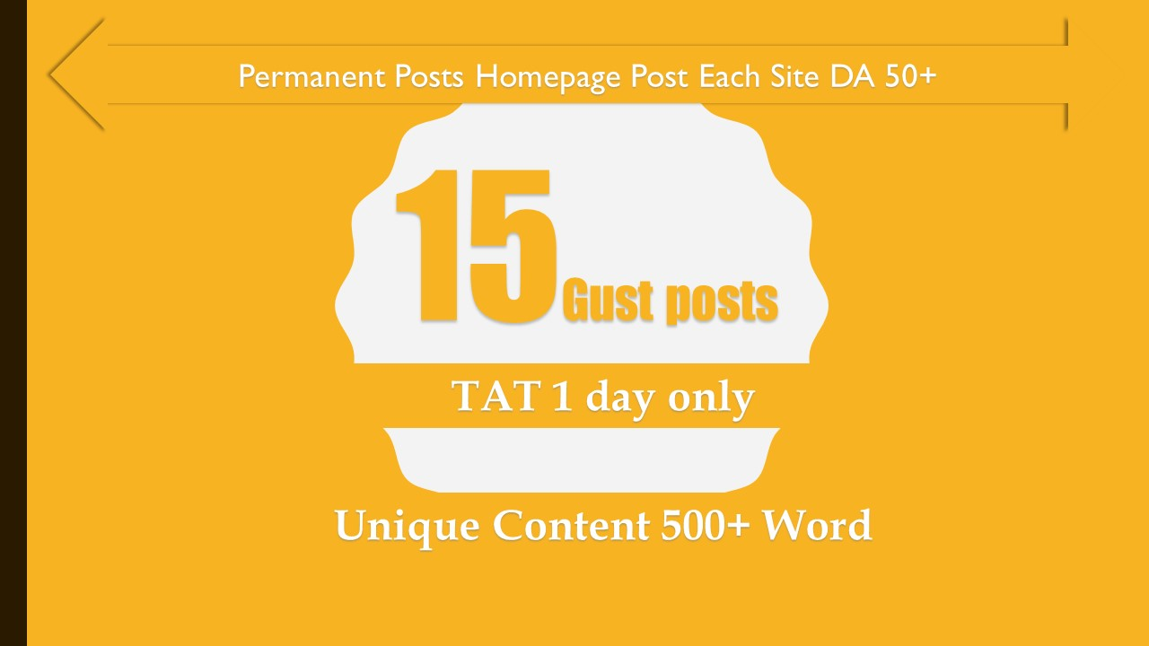 15 high 50 da guest posts for boost your Website traffic